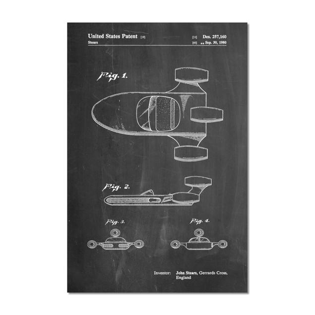 Star Wars X-34 Landspeeder Patent Poster