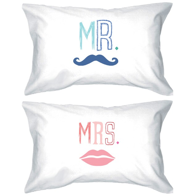 Mr and Mrs Couple Matching Pillowcase