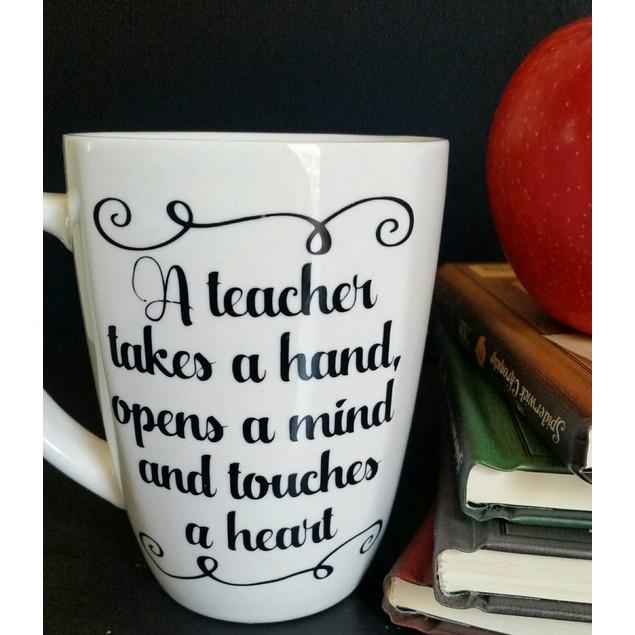 Personalized A Teacher Takes A Hand Mug