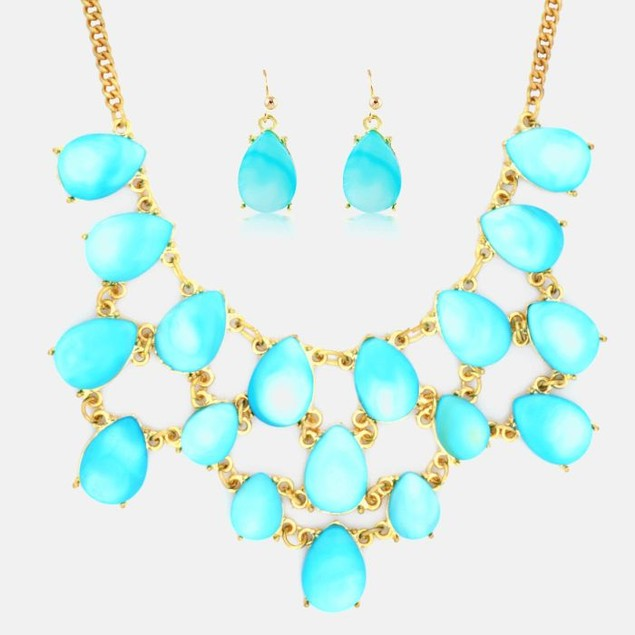 Mystery Gold Plated Necklace & Earring Set