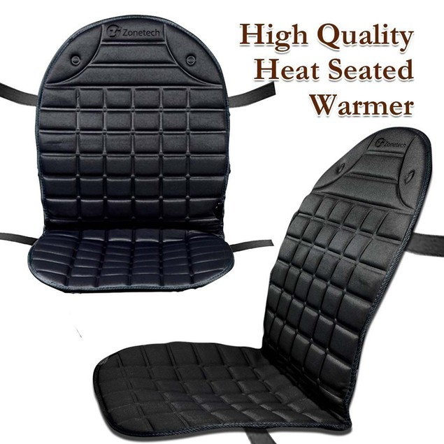 Zone Tech 2-Pack 12V Heated Car Seat Cushion