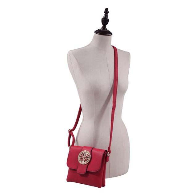 MKF Collection Buckle Snap Crossbody Bag by Mia K Farrow