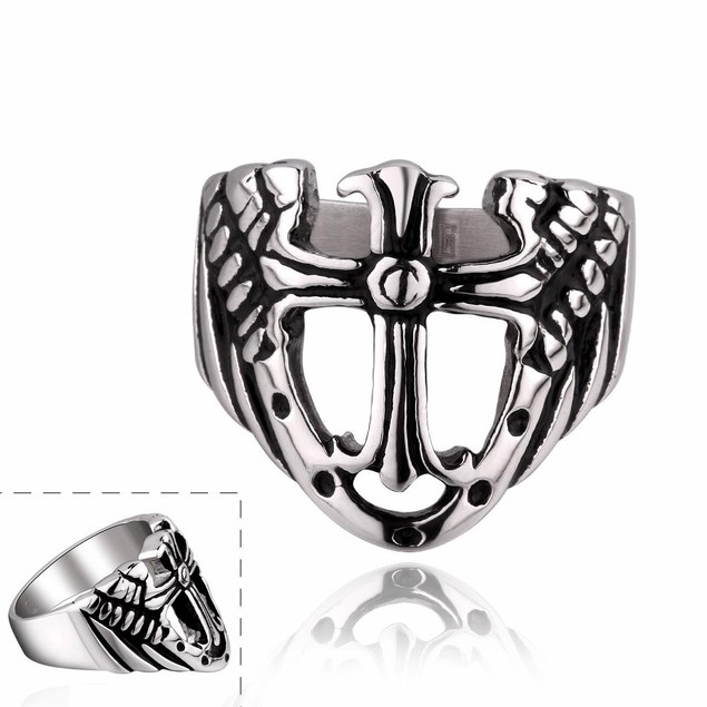 Shield Emblem Stainless Steel Ring