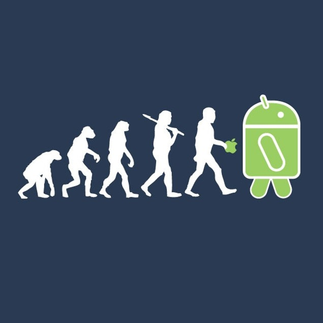 The Evolution from Ape to Android Part 2 T-Shirt
