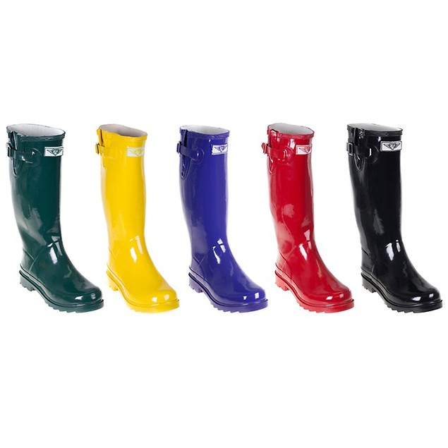 Forever Young Women's Tall Rubber Rain Boots