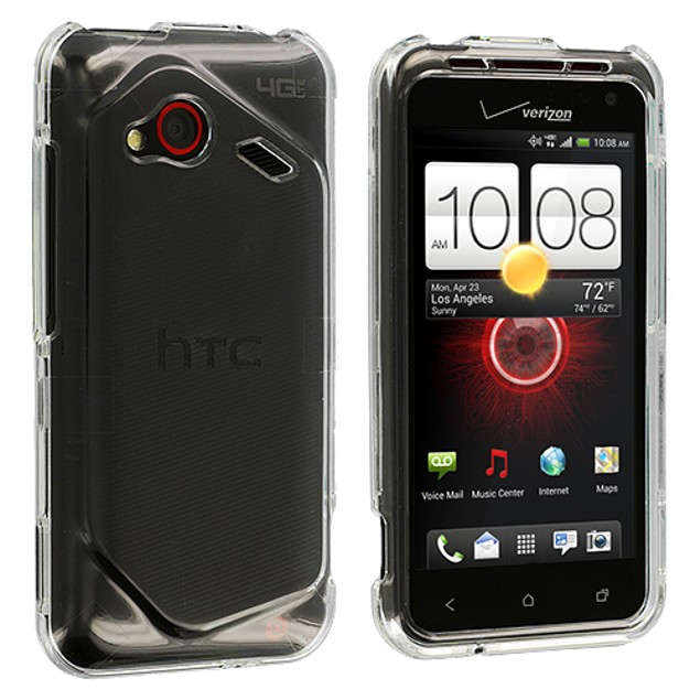 HTC Droid Incredible 4G LTE Hard Transparent Crystal Case Cover