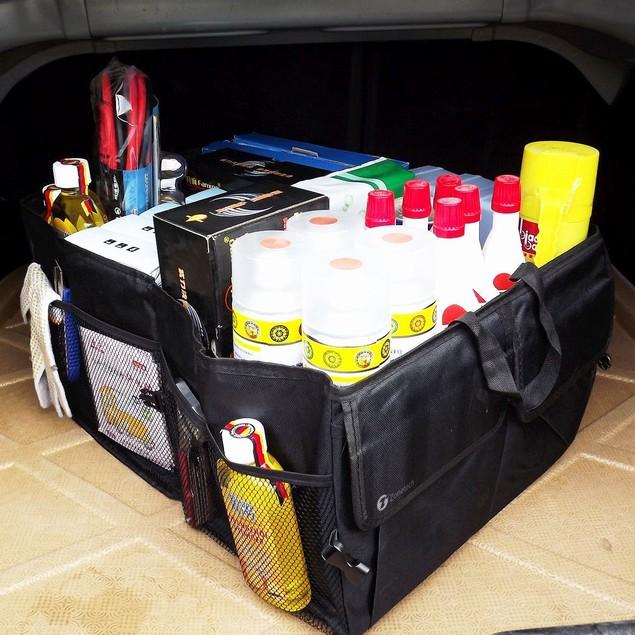 Zone Tech Cargo Trunk Organizer Car Storage Console Collapsible