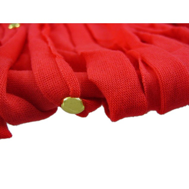 Coral Multi Strip Golden Studded Ring Scarf Womens Fashion Scarves