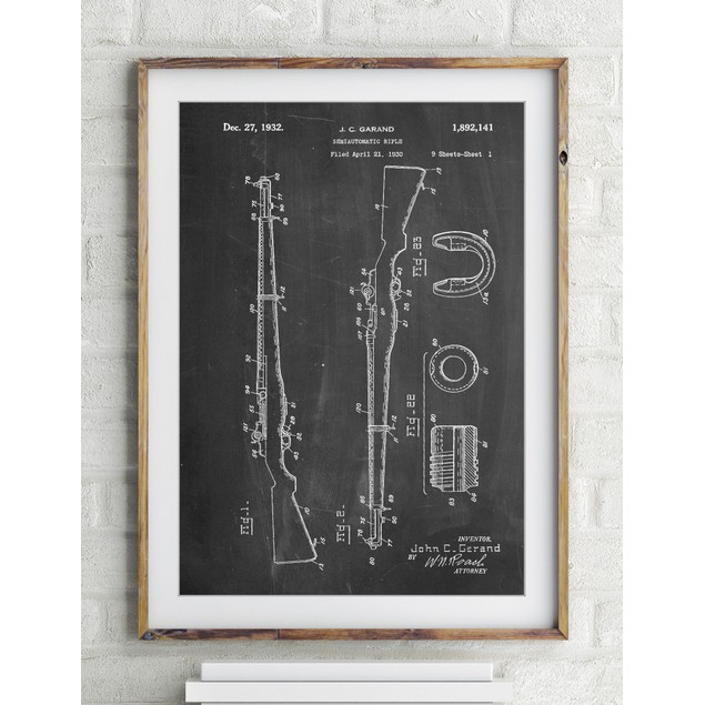 M-1 Rifle Patent Poster