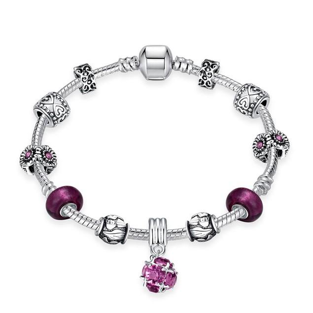 Amethyst Crystal Designer Inspired Bracelet