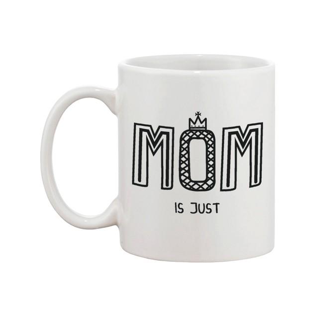 MOM Is Just WOW Upside Down Cute Ceramic 11oz Coffee Mug