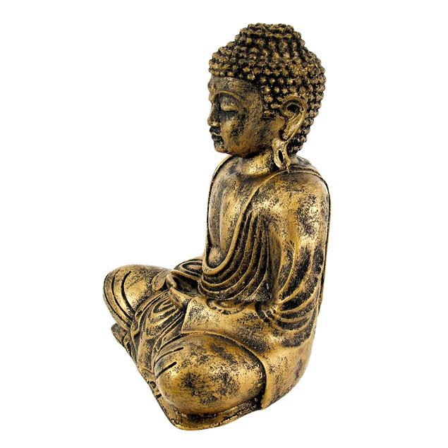 Golden Meditating Buddha Statue Statues