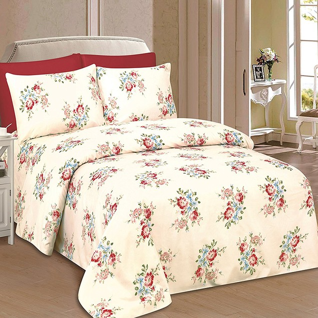 Beverly Hills 1800 Series Ultra Soft Printed Bed Sheet Set