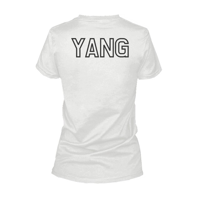 Asian Yin and Yang Matching Best Friends BFF Women's White shirt Back Print