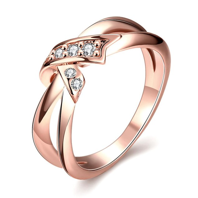 Rose Gold Plated Bow-Tie Ring