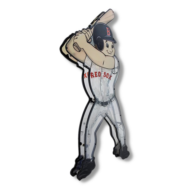 Boston Red Sox Baseball Player Double Sided Wall Sculptures