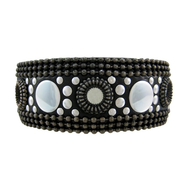 Three Tone Studded Bangle Bracelet Tri-Tone Womens Bangle Bracelets