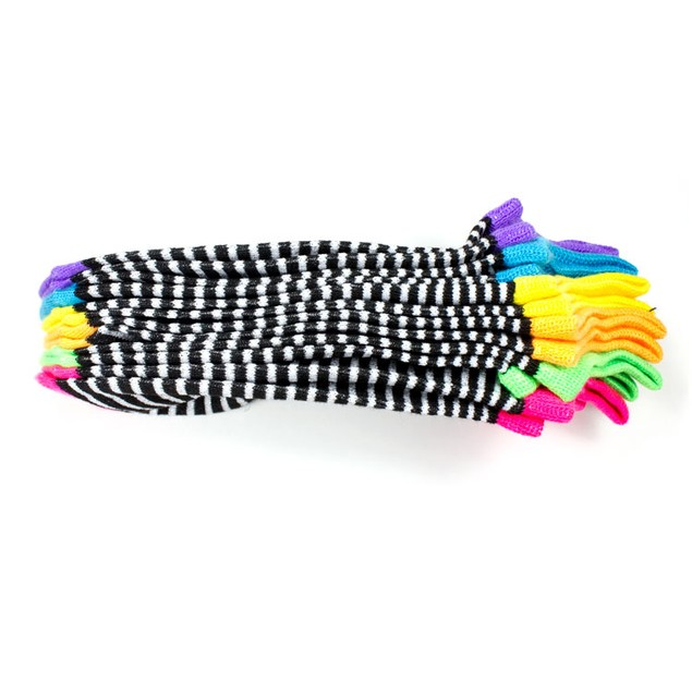 Rampage Women's No Show Socks Assorted Stripes - 6-Pack