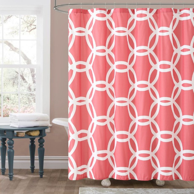 Luxury Embossed Shower Curtains - Honey Circle