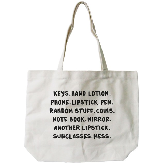Belongings Natural Canvas Tote Bag