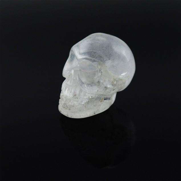 Beautiful Carved Clear Quartz Gemstone Skull 25Mm Loose Gemstones