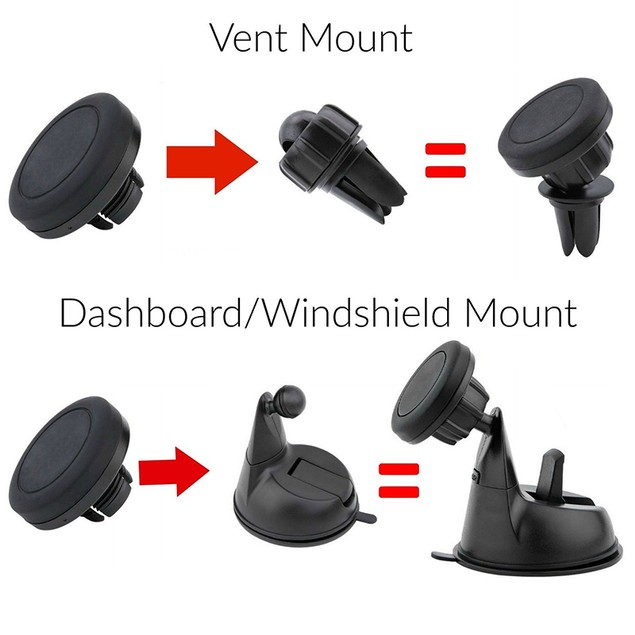 Encust Universal 3 in 1 Dashboard Magnetic Car Mount Phone Holder