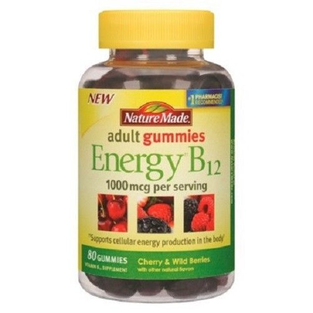 Nature Made Energy B12 Adult Gummies 80 Count Bottle