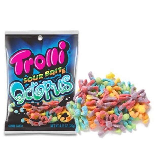 Trolli Sour Brite Octopus Gummy Candy 4.5oz Bag