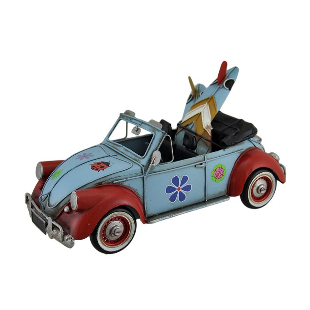 12 In. Loaded Up Beach Bound Retro Flower Power Statues