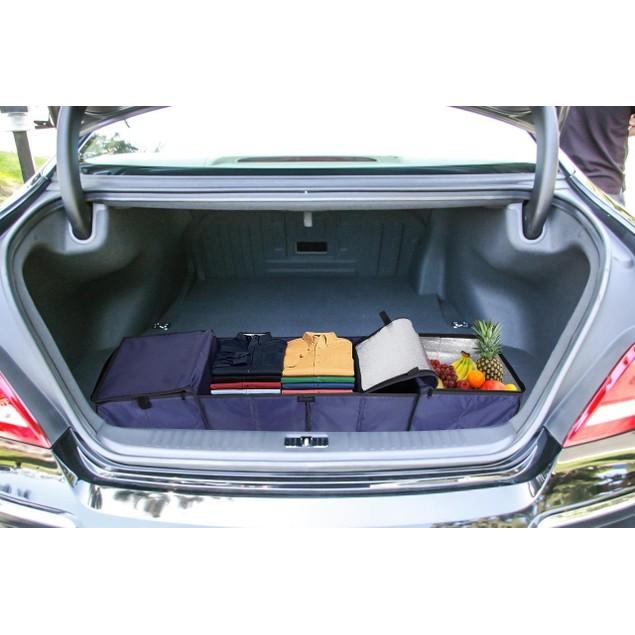 Zone Tech Multi Purpose Foldable Insulated Vehicle Trunk Storage Organizer