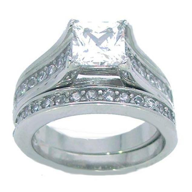 3.50 ct 2 Piece Princess Cut Wedding Ring Set