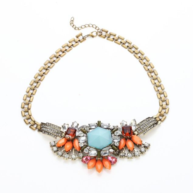 Dazzled Heiress Crystal Fall Statement Necklace