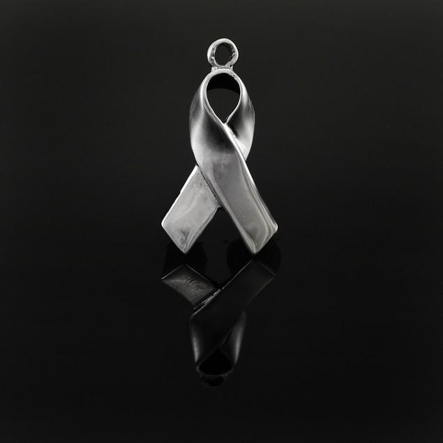 Sterling Silver Awareness Ribbon Charm / Pendant Pendants