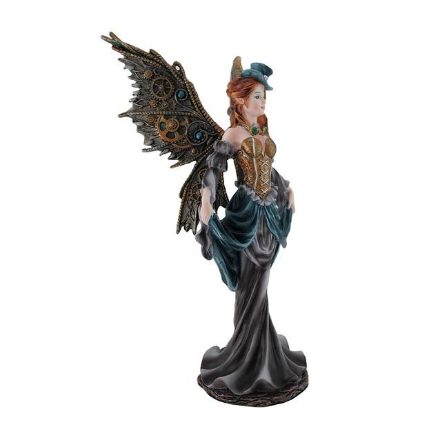 Gothic Renaissance Steampunk Fairy Lady Statue Statues