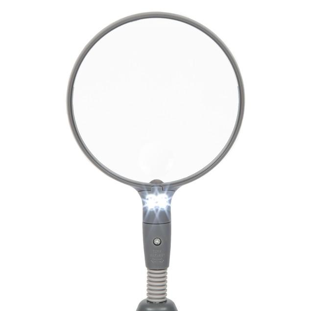 Stalwart 2 LED 2x Adjustable Magnifier Lamp - Desktop & Handheld