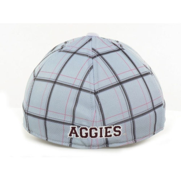 "Texas A&M Aggies NCAA TOW ""Fuse Plaid"" Stretch Fitted Hat New"