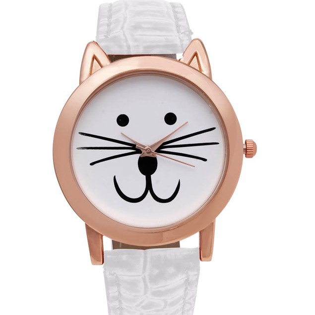 Octavia Purr Watch - White