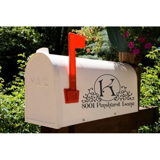Majestic Monogram Mailbox Decal