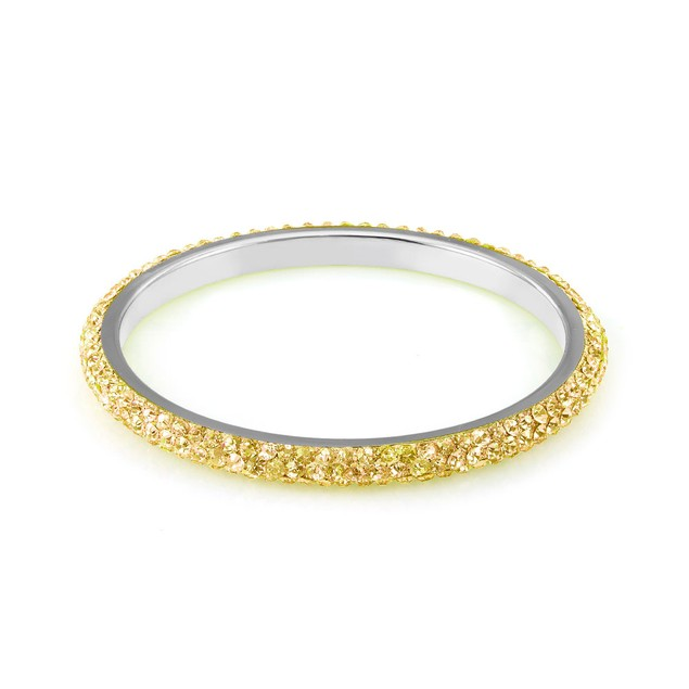 Gold Plated Eternity Crystal Bangle