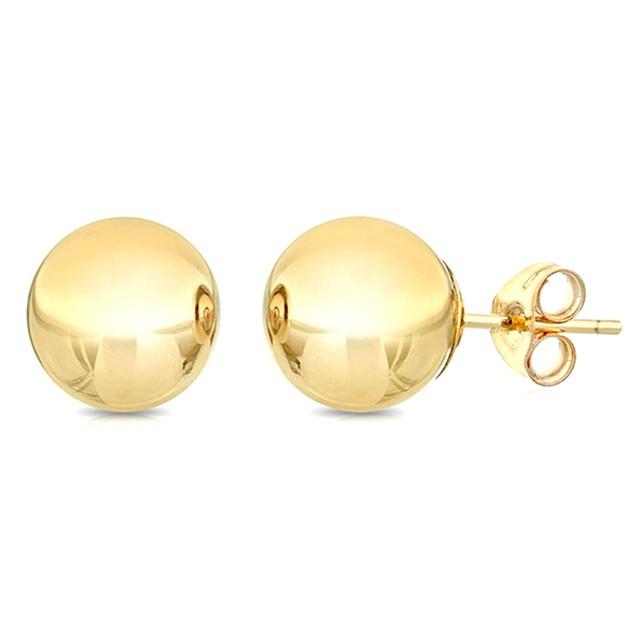 14kt Yellow Gold 3mm Ball Earrings