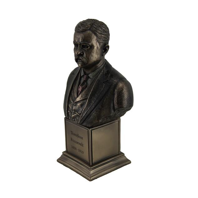 Theodore Roosevelt Bronze Finish Statue On Statues