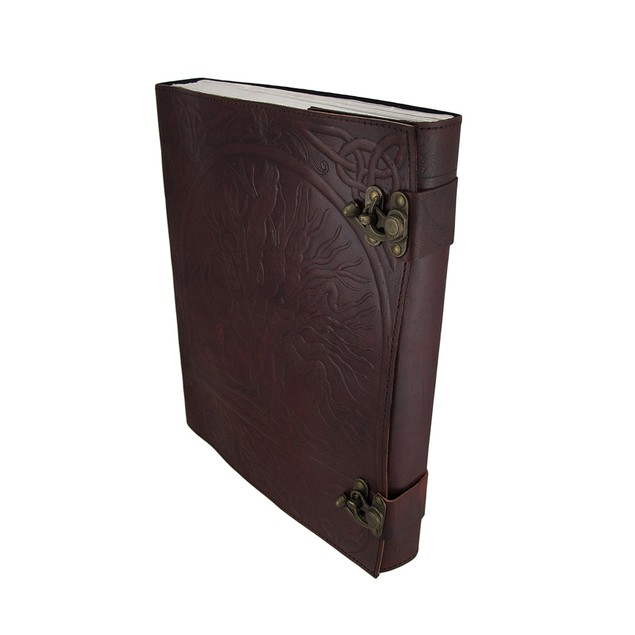 Large Embossed Leather Tree Of Life Journal Art Sketchbooks And Notebooks