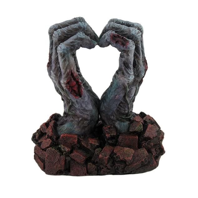 Zombie Love Undead Hands Forming Heart Desktop Statues
