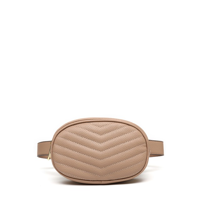 MKF Collection Fatima Quilted Chevron Womens Belt Bag by Mia K. Farrow