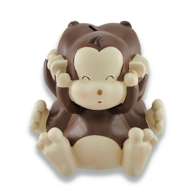Baby Monkey See, Speak, Hear No Evil Coin Bank 8.5 Toy Banks