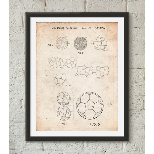 Soccer Ball 1985 Patent Poster