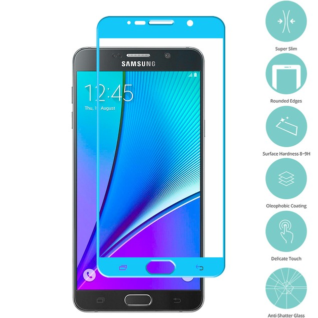 Samsung Galaxy Note 5 Tempered Glass Film Screen Protector Colored