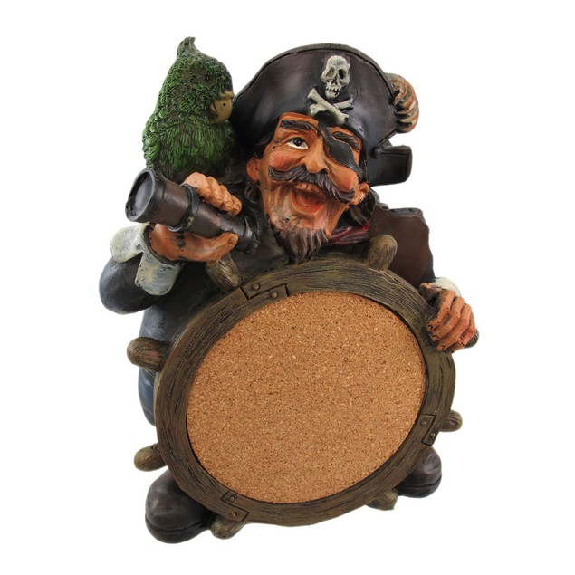 Wacky Pirate Captain Tabletop Pinboard Cork Board Chalkboards