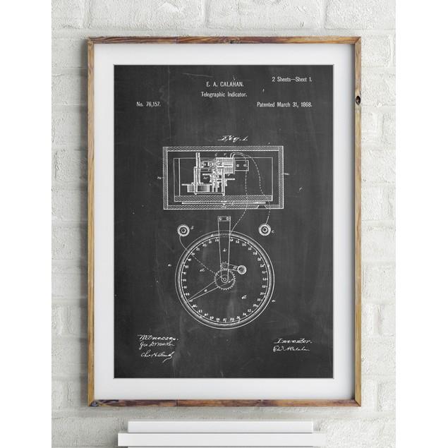 Stock Telegraphic Ticker 1868 Patent Poster