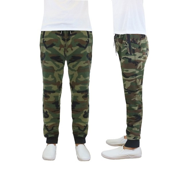 Slim Fit Camo Fleece Jogger Sweatpants for Men